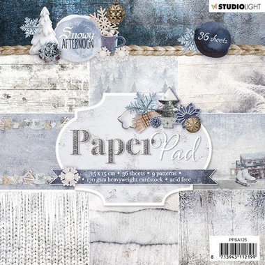 Studio Light Paper pad 36 vel Snowy Afternoon nr.125