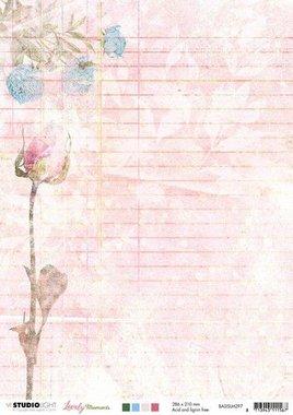 Studio Light Basis A4 Achtergrondpapier Lovely Moments nr.297
