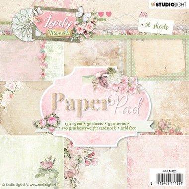 Studio Light Paper pad 36 vel Lovely Moments nr 123