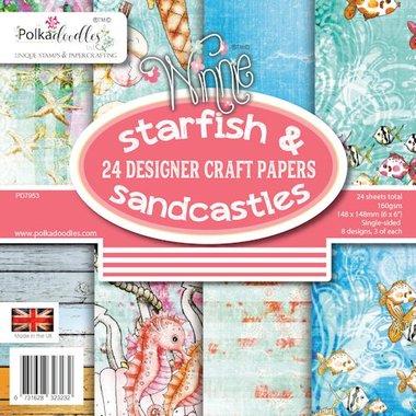 Polkadoodles Paperpack Starfish & Sandcastles