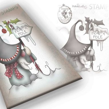 Polkadoodles stamp Gnome - North pole