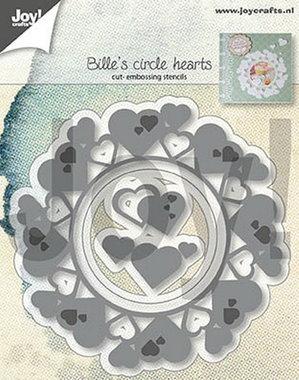 Joy! stencil Bille's hartencirkel 6002/1313