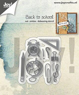 Joy! stencil back to school 6002/1345