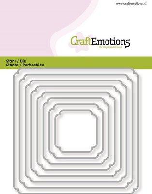 CraftEmotions Die - randen vierkant double rounder/billenhoek