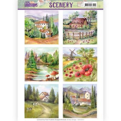 Die Cut Topper - Scenery Amy Design - spring landscapes 2