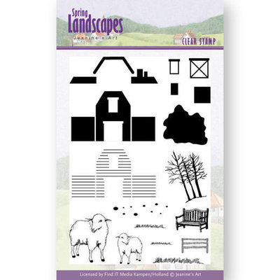 Clear Stamps - Jeanines Art- spring landscapes farm