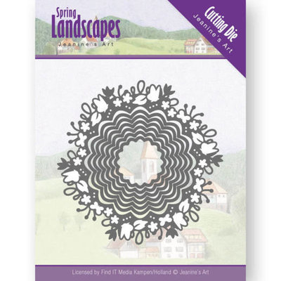 Dies - Jeanine's Art - spring landscapes - spring scalloped circle