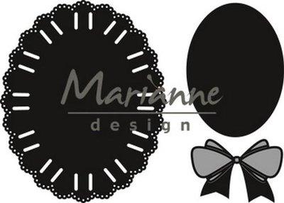 Marianne Design Craftable oval ribbon die CR1458