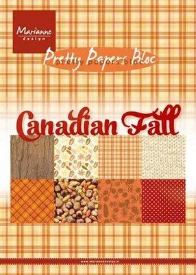 Marianne Design Paper pad Canadian Fall PK9138