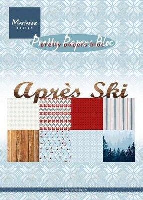 Marianne Design Paper pad Après ski PK9142 15x21 cm