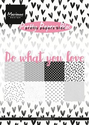 Marianne Design Paper pad Do what you love PK9149 15x21 cm