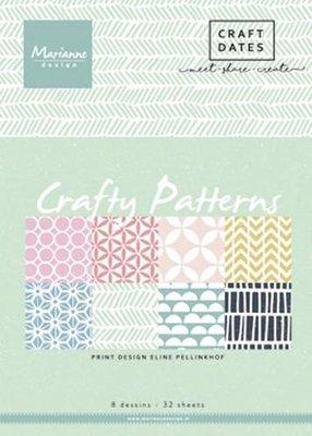Marianne Design Paper pad Crafty Patterns A5 PB7054 (02-18)