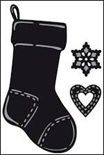 Marianne Design Craftable tiny's christmas socking CR1256