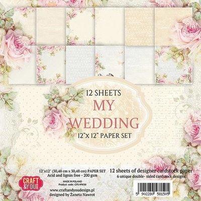 Craft&You My Wedding Big Paper Set 12x12 12 vel