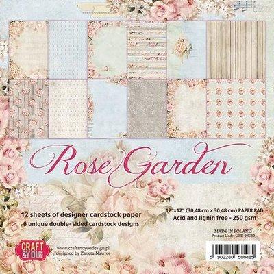Craft&You Rose Garden Paper Set 12x12 12 vel