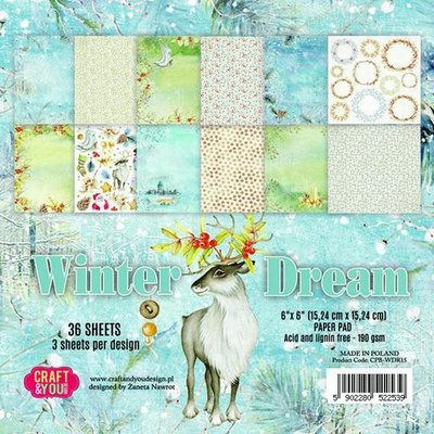 Craft&You Winter Dream Small Paper Pad 6x6 36 vel