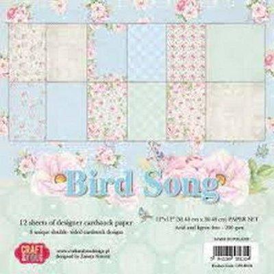 Craft&You Bird Song BIG Paper Set 12x12 12 vel