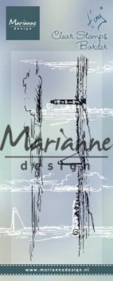 Marianne Design Clear Stamps Tiny's border - Horizon TC0874
