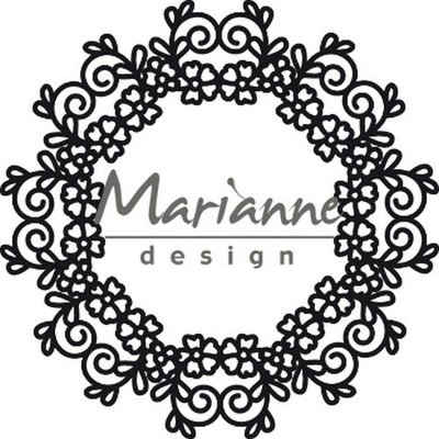 Marianne Design Craftable Floral Doily CR1470