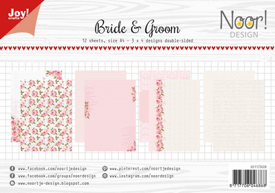 Joy! papierset Bride and groom 6011/0608