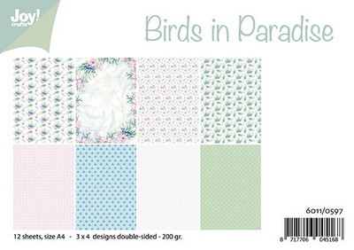Joy! papierset Birds in paradise 6011/0597