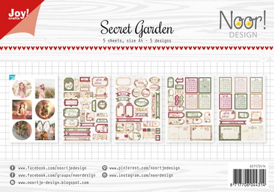 Joy! labelsheets cuttingsheet Secret garden 6011/0414