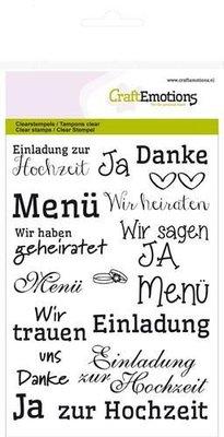 CraftEmotions clearstamps A6 - handletter - Hochzeit (DE) Carla Kamphuis