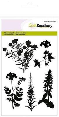 CraftEmotions clearstempel silhouet berm planten 1