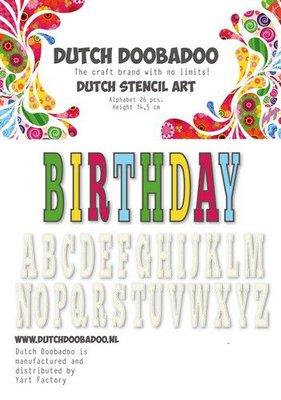 Dutch Doobadoo Dutch Stencil Art alfabet 5