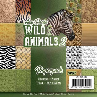 Amy Design paperpack Wild animals 2