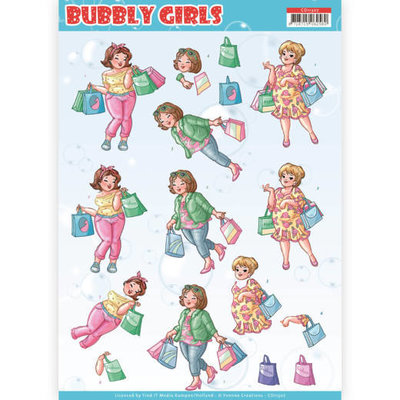 Yvonne Creations knipvel Bubbly Girls - Shopping