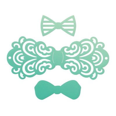 Couture Creations mini die Gentlemans emporium - Filigree bow tie set