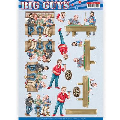 3D Knipvel - Yvonne Creations- Big Guys - Pub Night
