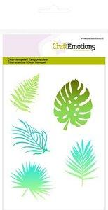 CraftEmotions clearstamps A6 - tropische bladeren silhouet