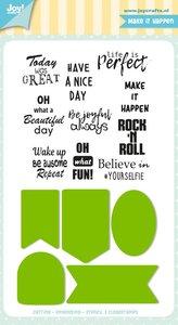 Joy! stempel met mal Jocelijne labels en tekst 6004/0037