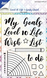 Joy! stempel Level 10 Life & goals chart 6410/0518