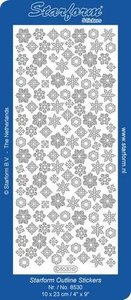 Starform Stickers Christmas Ice Crystals 4 - Silver -