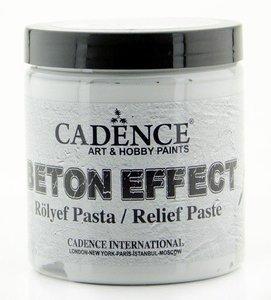 Cadence Beton Effect Relief Pasta Grijs 250 ML
