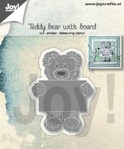 Joy! stencil Teddybeer met notitiebord 6002/1308
