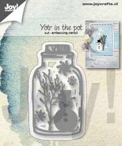 Joy! stencil sneeuwpop in pot 6002/1339
