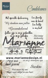 Marianne Design Clear Stamps Condoleance (NL) CS1041