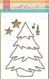 Marianne Design Craft Stencil kerstboom by Marleen PS8046