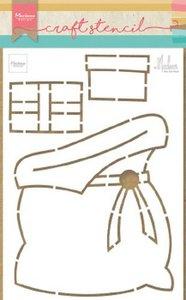 Marianne Design Craft Stencil cadeau zak by Marleen PS8047