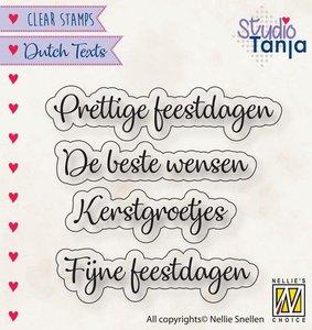 Nellies Choice Clearstempel Tekst (NL) - Prettige Feestdagen etc..