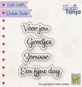 Nellies Choice Clearstempel Tekst (NL) - Voor jou etc..