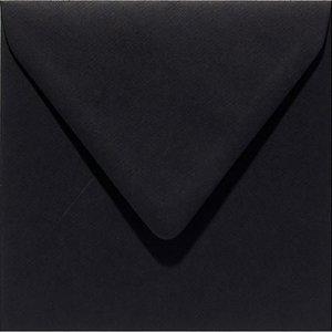 Papicolor Envelop vierk. 14cm ravenzwart 105gr - 6 st