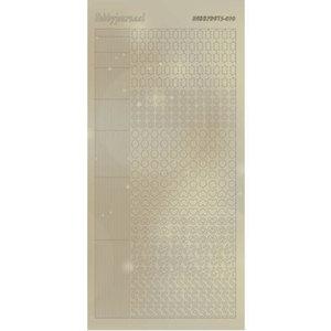 Hobbydots Sticker - Pearl - 10 Gold