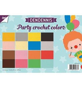 Joy! papierset Dendennis Party Crochet Colors 6011/0554