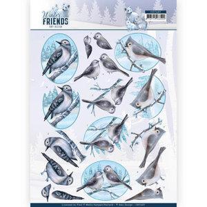 3D Knipvel - Amy Design - Winter Friends - Sparkling Birds