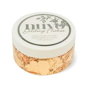 Nuvo gilding flakes (200ml) - sunkissed copper